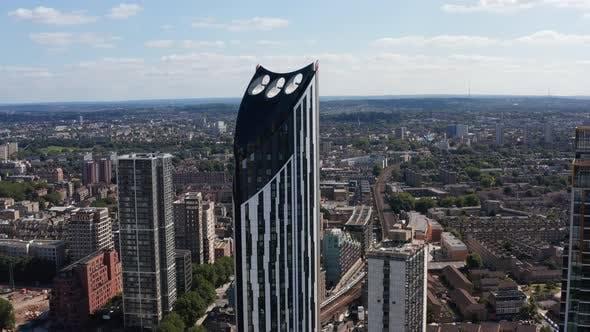 Elevated View of Strata Skyscraper