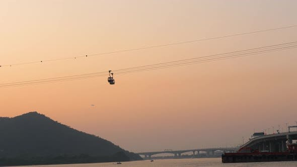 Thumbnail for Cable Car To Big Buddha in Lantau Island at Sunset