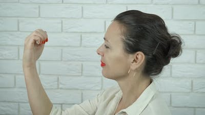 Feminist with Red Nails