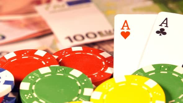 Thumbnail for Gambling Money Chips And Poker Cards 6