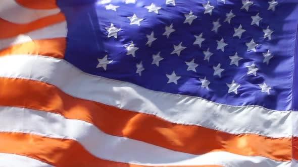 Thumbnail for USA North America Flag Slowmotion