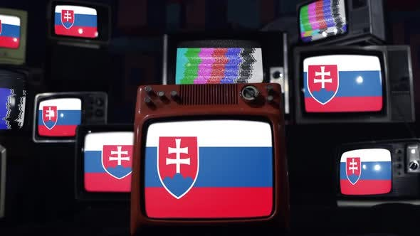 Thumbnail for Slovakia flags and retro Televisions.