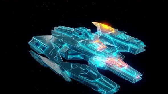 Thumbnail for Sci Fi Cosmic Fighter Hud Hologram 4k