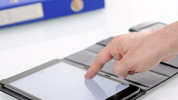 Thumbnail for Using Tablet On Desk