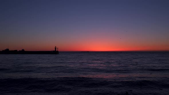 The Sky Over the Sea Before Sunrise