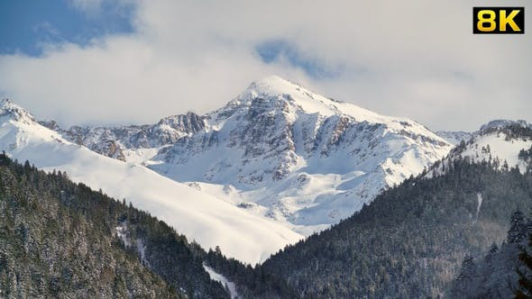 Thermal Radiation in the Mountains Surface