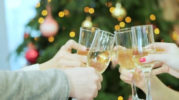 Thumbnail for Company Is Holding Glasses With Champagne