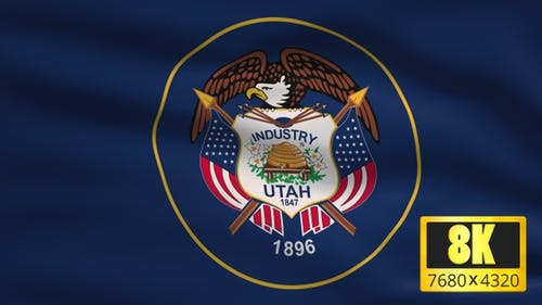 8K Utah State Flag Background