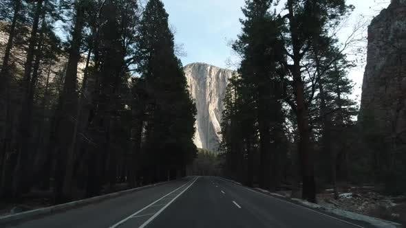 Thumbnail for Driving Car in Yosemite Valley. California, USA