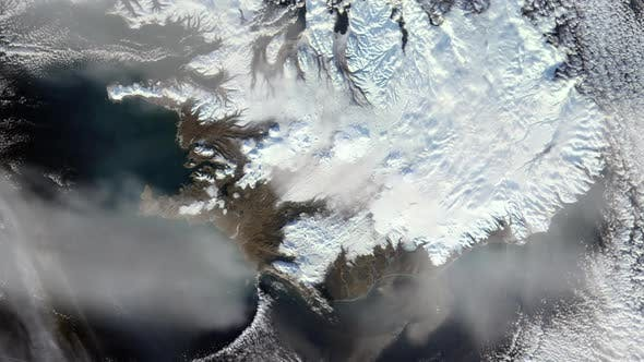 Cover Image for Iceland from Space.