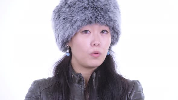 Thumbnail for Face of Serious Asian Woman Nodding Head No