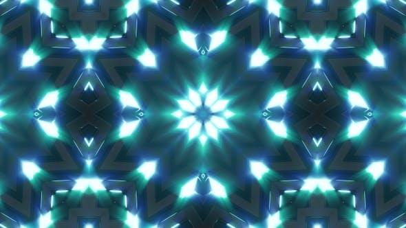 Neon Light Blue Glow Kaleidoscope V3