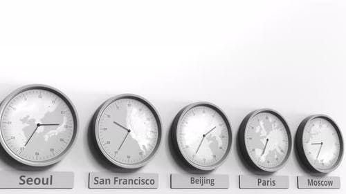 Clock Showing Beijing China Time