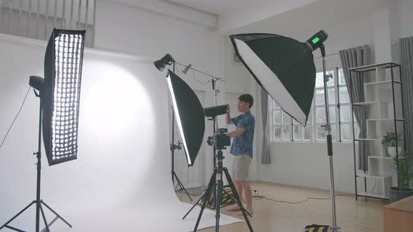 Home Photo Studio With Professional Equipment
