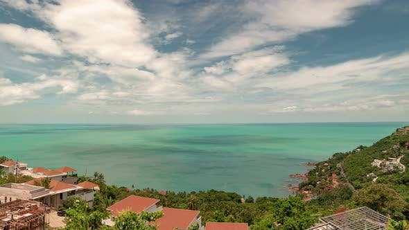 Cover Image for Panoramic sea view from the villa in Koh Samui, Thailand