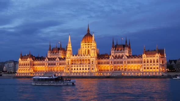 Cover Image for Cruise Ships and Ferries with The Hungarian Parliament Building