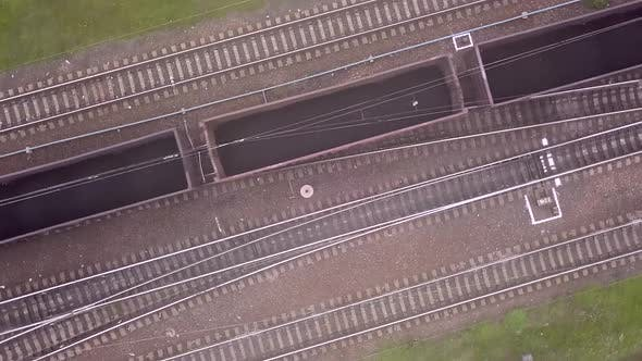 Top View of the Train Passing