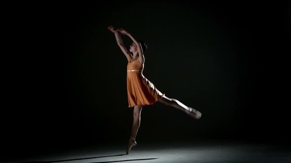 Thumbnail for Curly Girl Dancing Ballet in Studio