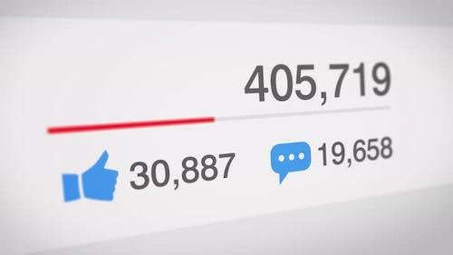 Populärer Social-Media-Zähler