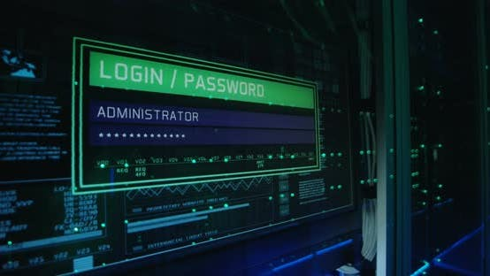 Thumbnail for Computer Login Screen in a Modern Data Center