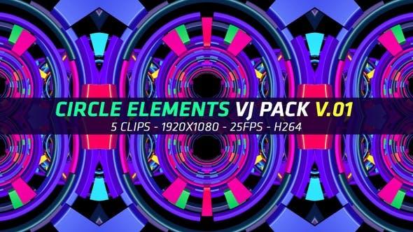 Thumbnail for Circle Elements Vj Pack V.01