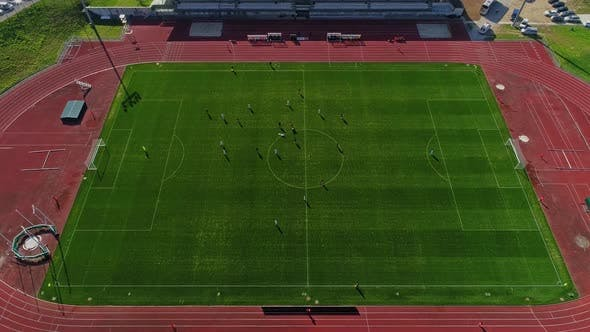 Thumbnail for Drone Shot of Football Match