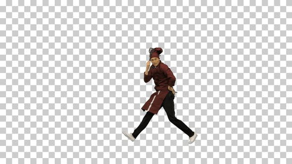 Thumbnail for Chef cook in uniform dancing, Alpha Channel
