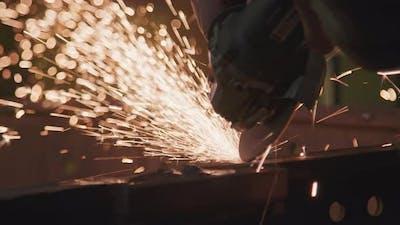 Welding Metal At Factory