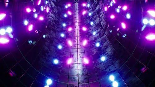 Neon Light Particles Vj Tunnel Loop 4K
