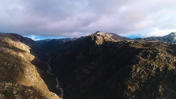 Thumbnail for Flying Above Alpine Nature Environment Scenery