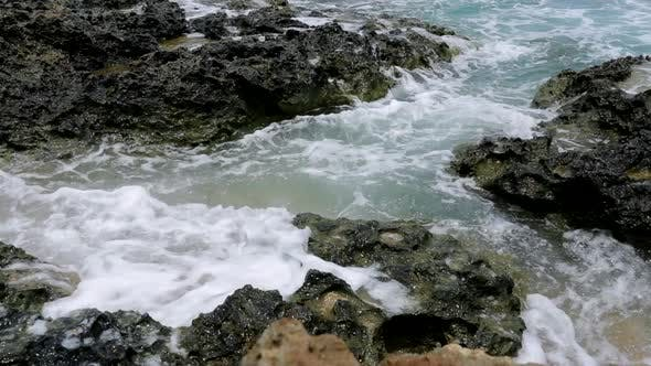 Thumbnail for Sea waves crashing on the rock