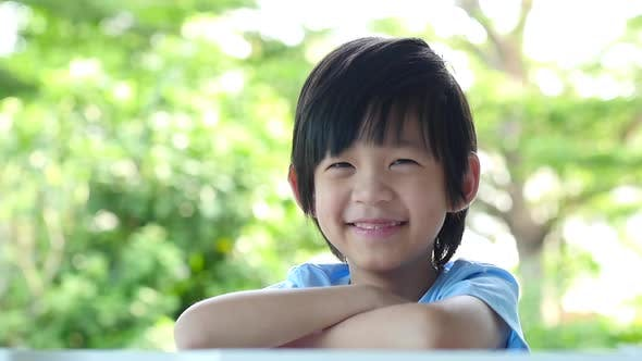 Close Up Of Asian Child Smiling