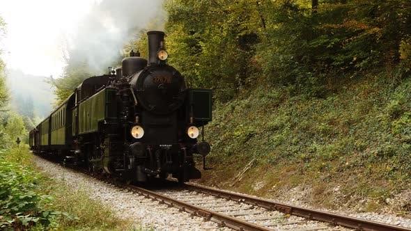 Old Nostalgic Steam Engine Locomotive Train Technology