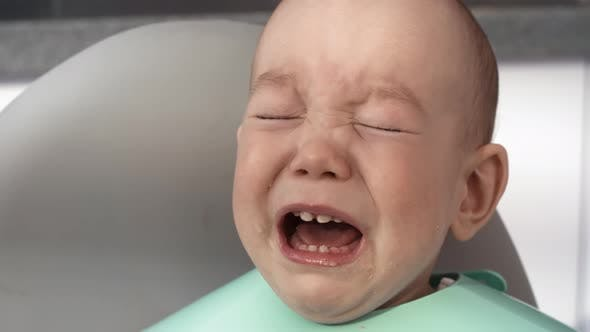 Thumbnail for Stroppy Asian Baby Crying during Feeding