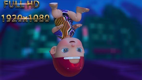 Cartoon Baby Dance V31 - 60 Fps