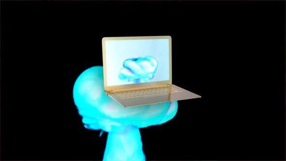 Thumbnail for Golden laptop