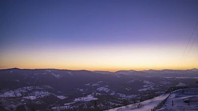 View in Sunrise Winter Mountain Timelapse