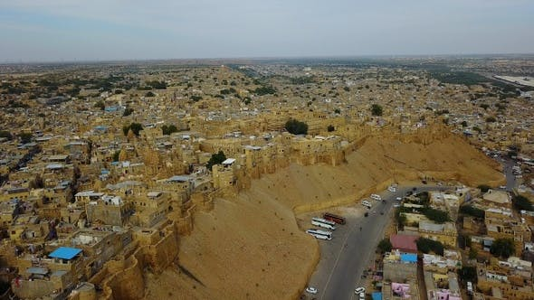 Cover Image for Aerial view of Jaisalmer City.