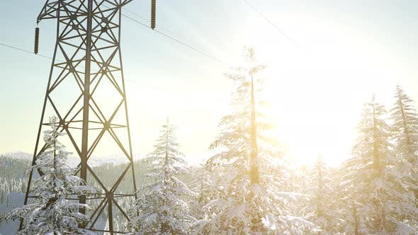 Thumbnail for Electric Line at Sunrise