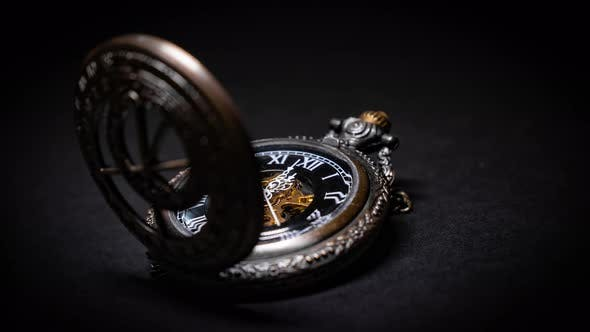 Thumbnail for Timelapse of a vintage pocket watch