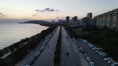 Evening City Traffic