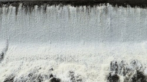 Frothy Foaming Waterfall Stepped Edge Water Feature.