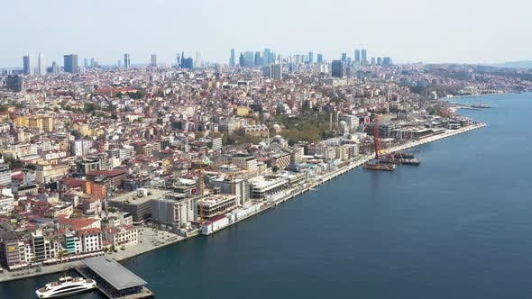 Thumbnail for Istanbul City Coast Aerial View