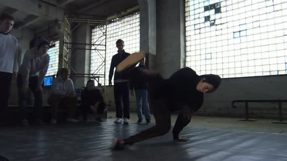 Thumbnail for Teenage Doing Breakdance Spinning