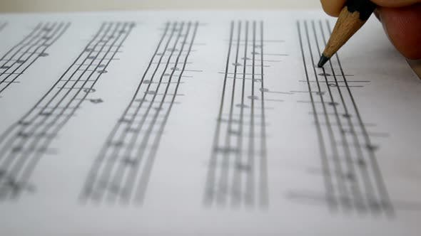 Thumbnail for Composer Are Writing Musical Notes Of Melody