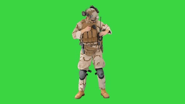 Thumbnail for Soldiers in Camouflage Gear Checking Ammunition on a Green Screen, Chroma Key