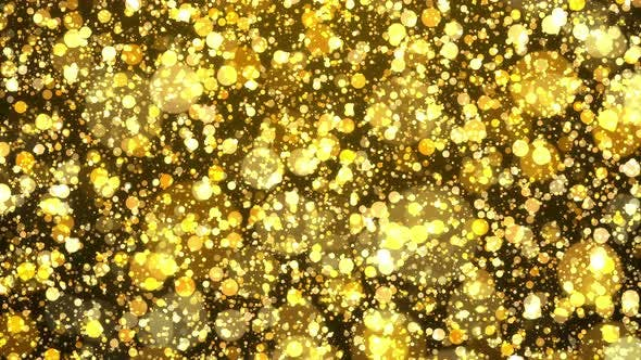 Thumbnail for Gold Particle Background