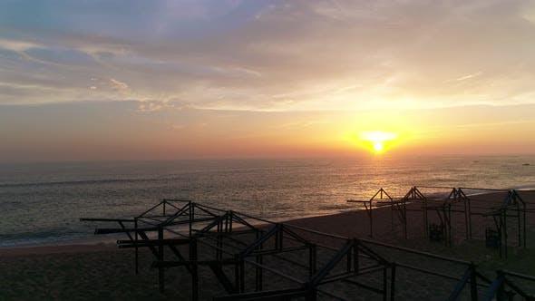 Scenic Sunset on the Beach