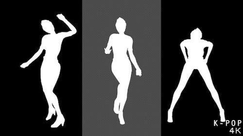 4K K-Pop Dancer Silhouette - 2