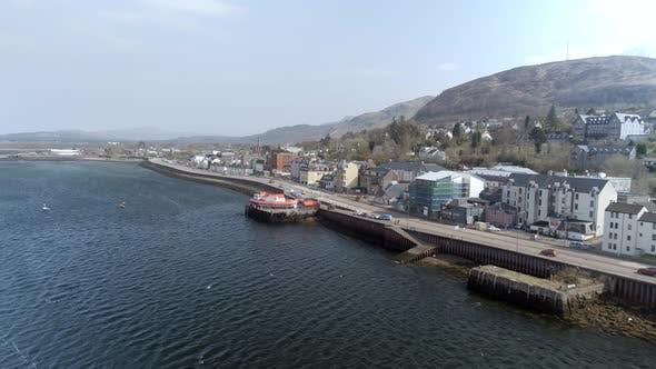 Fort William City in Scotland Seen from the Air